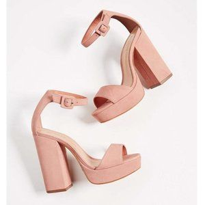 Free People x Schutz Mikella Block Heel Sandals